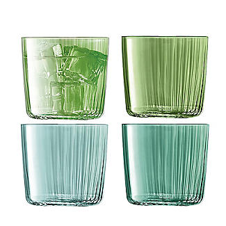 4 LSA Gio Tumbler Glasses Set - Jade