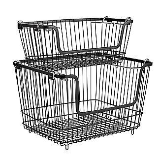 Lakeland Stackable Wire Storage Baskets Bundle