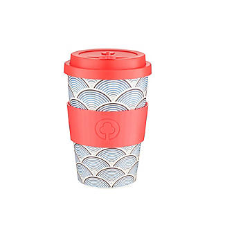 Lakeland Blue Wave Reusable Bamboo Coffee Cup 500ml