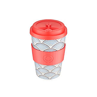 Lakeland Blue Wave Reusable Bamboo Coffee Cup 500ml alt image 2