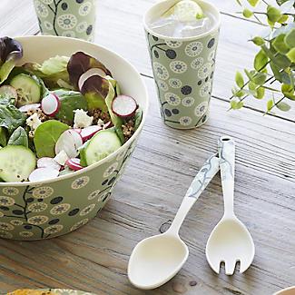 Lakeland Cherry Flower Bamboo Salad Servers alt image 2