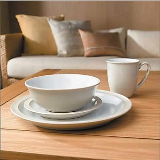 Denby Pottery Linen 16-Piece Tableware Set alt image 2