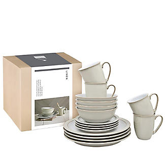 Denby Pottery Linen 16-Piece Tableware Set alt image 3
