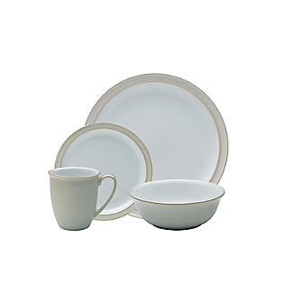 Denby Pottery Linen 16-Piece Tableware Set alt image 4