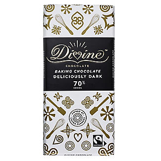 Divine 70% Cocoa Deliciously Dark Baking Chocolate Bar 150g alt image 2