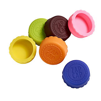 6 CellarDine Zap Cap Crown Cap Silicone Bottle Tops  alt image 1