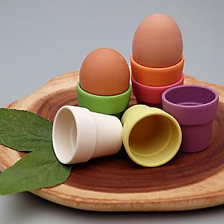 6 Zuperzozial Bamboo Little Egg Heads Egg Cups  alt image 2