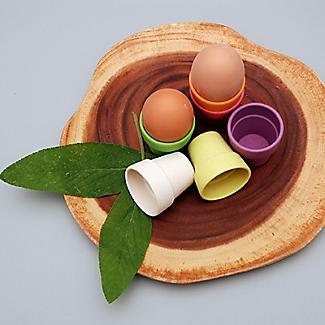 6 Zuperzozial Bamboo Little Egg Heads Egg Cups  alt image 3