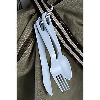 Zuperzozial Take-3 Bamboo Cutlery Set Blue – Knife, Fork and Spoon alt image 4