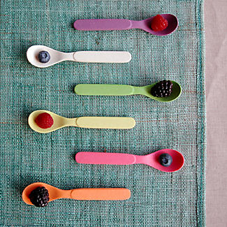 6 Zuperzozial Bamboo Spoonful of Colour Teaspoons  alt image 2