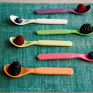 6 Zuperzozial Bamboo Spoonful of Colour Teaspoons  alt image 3