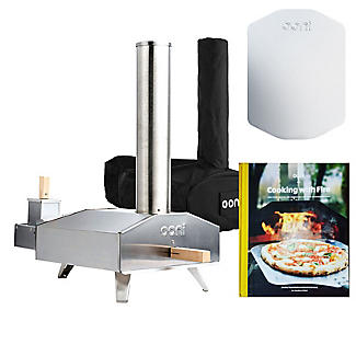 Ooni 3 Outdoor Oven with Cover and Peel and Cookbook Bundle