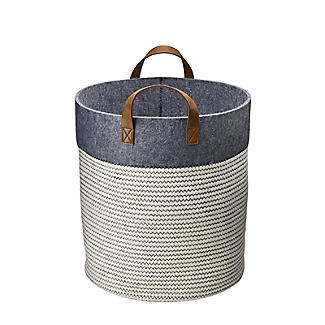 Large 54L Tidy Tote Rope Basket with Handles alt image 4