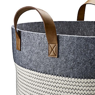 Large 54L Tidy Tote Rope Basket with Handles alt image 5