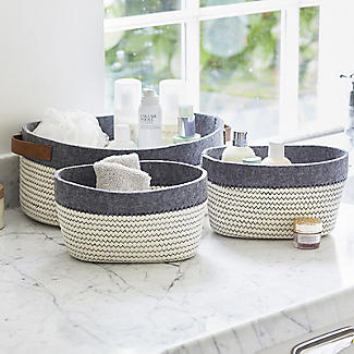 3 Tidy Tote Rope Storage Baskets  alt image 2