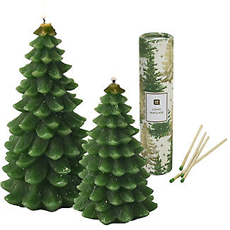 Christmas Tree Candles & Matches Set