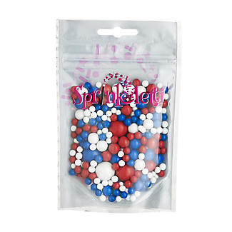Scrumptious Sprinkles Red White and Blue Sprinkletti Bubbles 100g
