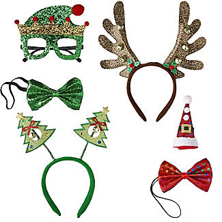 Novelty 4-Person Christmas Dress-up Accessories Set