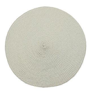 Circular Ribbed Linen Place Mat 35cm Dia.