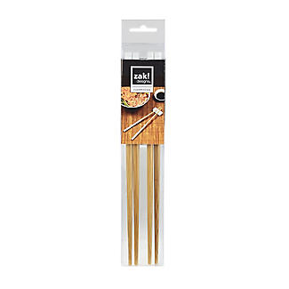 2 Zak Designs Bamboo Chopsticks and Silicone Rests - White  alt image 5