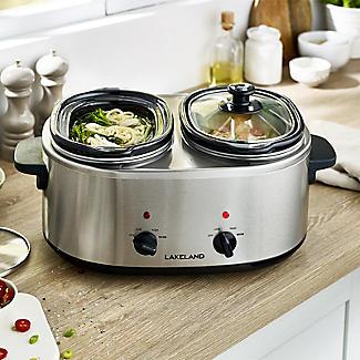 2 Pot Slow Cooker with Recipe Book & Sauce Mix alt image 2