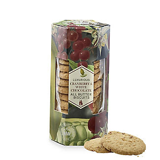 Kew Gardens Luxurious Cranberry & White Chocolate All Butter Biscuits 200g