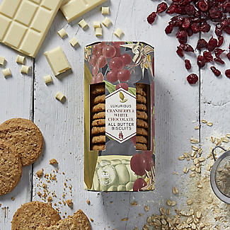 Kew Gardens Luxurious Cranberry & White Chocolate All Butter Biscuits 200g alt image 2