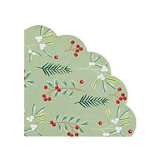 20 Talking Tables Christmas Berry Scalloped Napkins