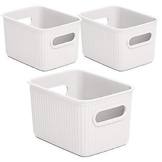 Tatay Baobab 2 x 1.5L & 5L Baskets Set - White