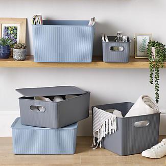 Tatay Baobab 2 x 1.5L & 5L Baskets Set - White alt image 2