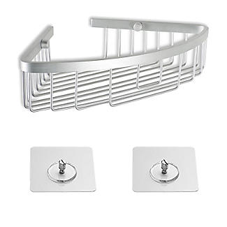 Tatay Corner Basket Shower Caddy and Quick Fix Wall System Bundle