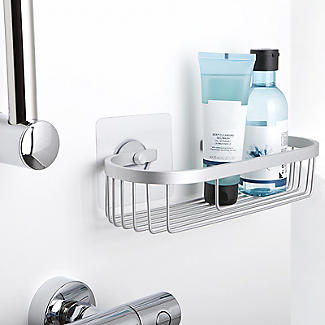 Tatay Oval Shower Caddy and Quick Fix Wall System Bundle alt image 2