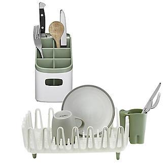ILO Kitchen Dishrack & Cutlery Drainer Set - Sage Green
