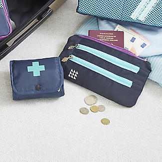 Lakeland Travel Pill Box & Money Wallet Set alt image 2