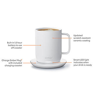 Ember Temperature Controlled Gift Mug - White 295ml alt image 3