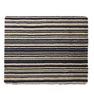 Hug Rug Washable Indoor Mat Azure Blue Stripe 80 x 60cm