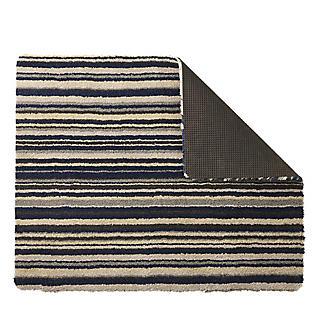 Hug Rug Washable Indoor Mat Azure Blue Stripe 80 x 60cm alt image 2