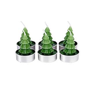 6 Mini Christmas Tree Candles