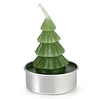 6 Mini Christmas Tree Candles  alt image 2