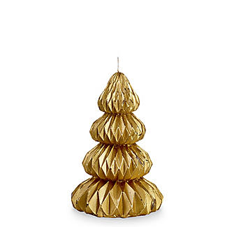 Small Ornate Gold Tree Candle
