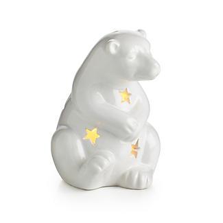 Ceramic Polar Bear LED Light Christmas Decoration