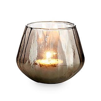 Smoke Glass Tealight Candle Holder