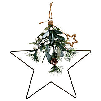Festive Foliage Star Christmas Decoration