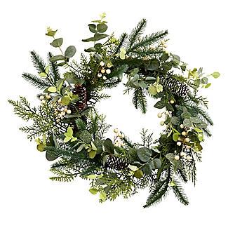 Festive Foliage Wreath Christmas Decoration