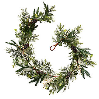 Festive Foliage Garland 1.8m Christmas Decoration