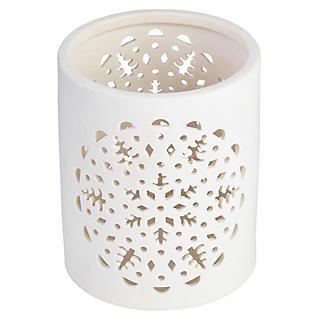 Lakeland Ceramic Snowflake Hurricane Lantern alt image 2