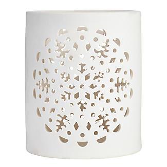 Lakeland Ceramic Snowflake Hurricane Lantern alt image 4