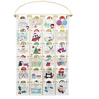 Hanging Fabric Fill Your Own Advent Calendar