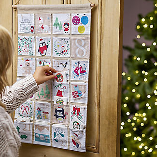 Hanging Fabric Fill Your Own Advent Calendar alt image 2