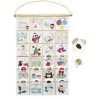 Hanging Fabric Fill Your Own Advent Calendar alt image 3